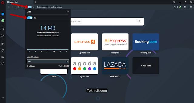 Cara mudah membuka situs yang diblokir di browser Opera
