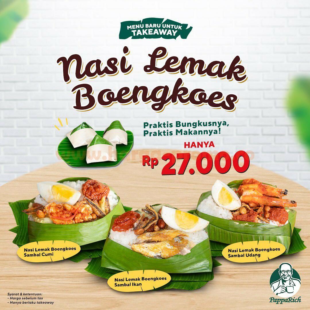PappaRich Nasi Lemak Boengkoes – Menu Baru! harga Hanya Rp 27.000
