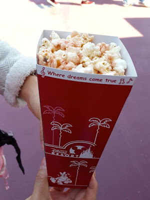 Strawberry Popcorn at Tokyo Disneysea Japan