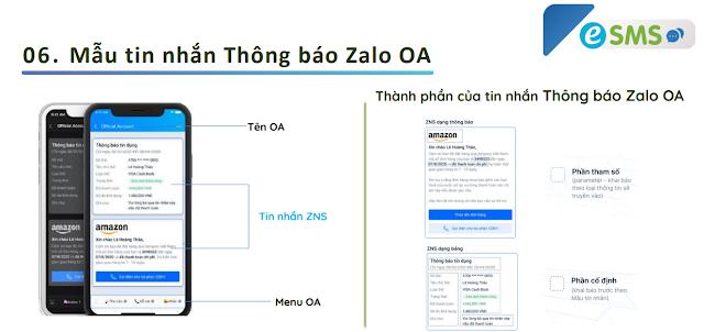 mẫu tin trong Zalo ZNS
