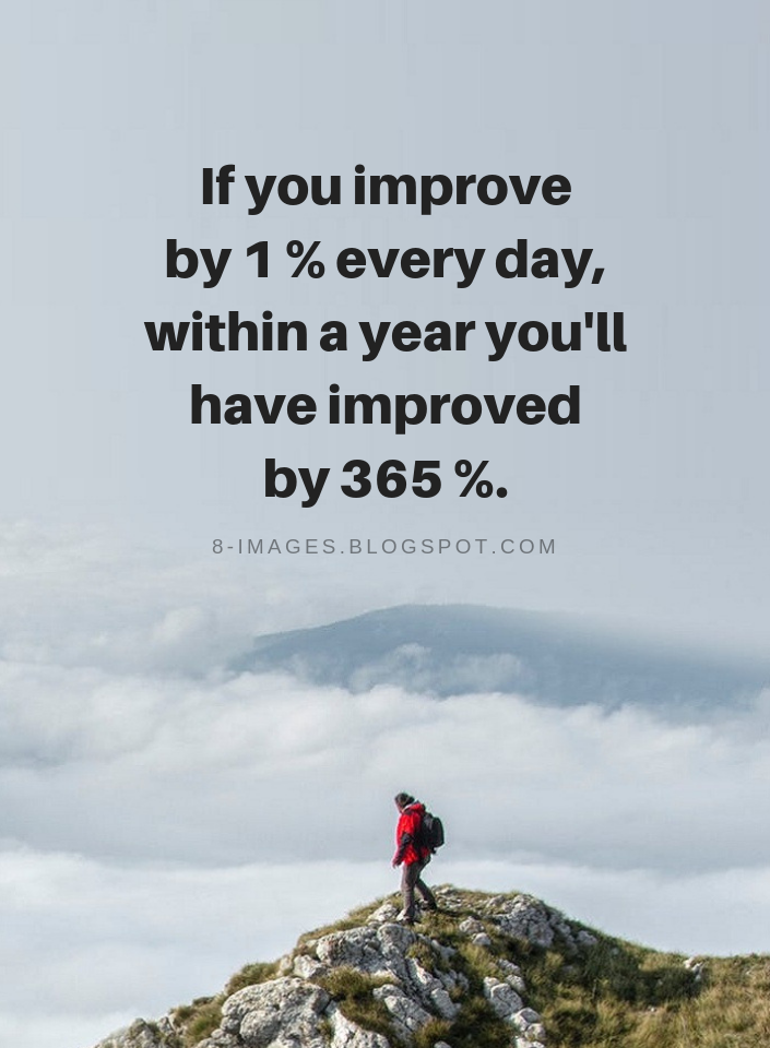 If You Improve By 1 Every Day Within A Year Youll Have Improved