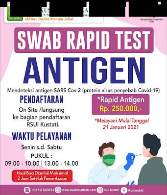 tarif swab rapid test antigen rs kustati solo