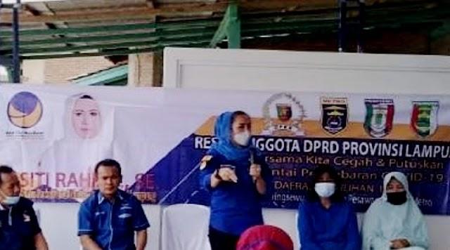 Anggota DPRD Lampung Siti Rahma Reses di Pekon Pardasuka