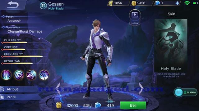 Mengenal Gossen Hero Assassin Baru Mobile Legends