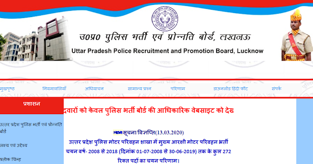 UP Police SI Vacancy 2020
