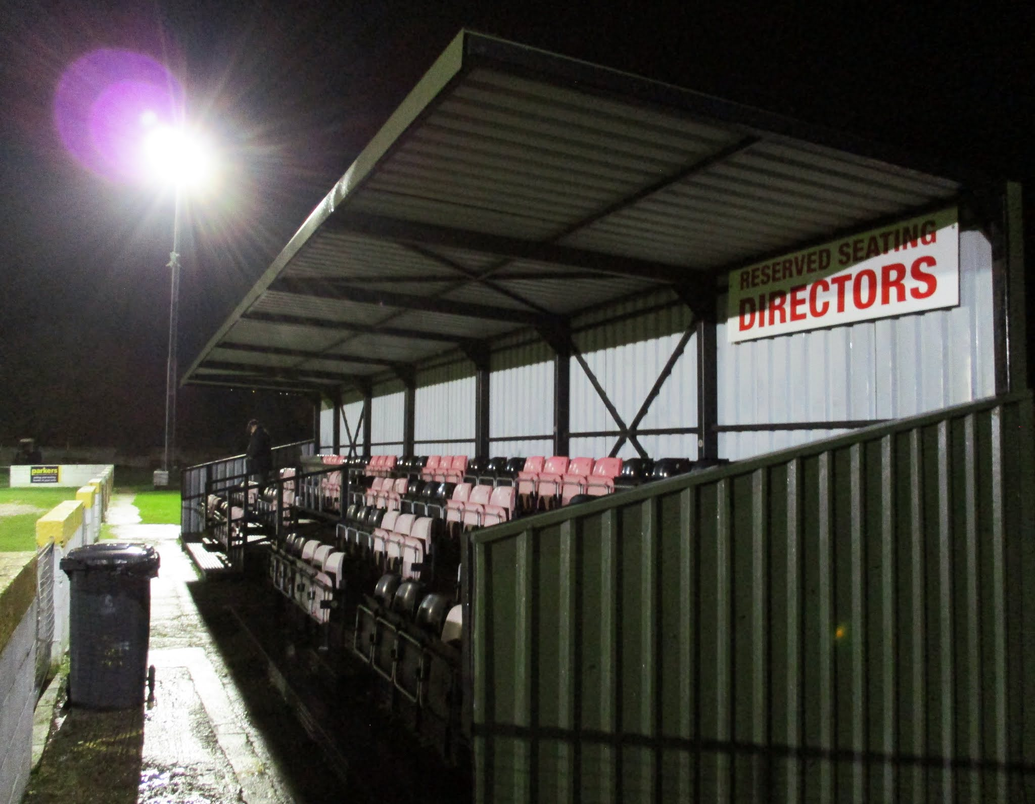 The main stand at The Rivermoor Stadium, Reading