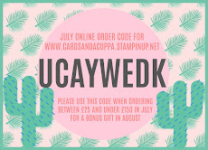 Hostess Code for your July Stampin' Up! Shopping