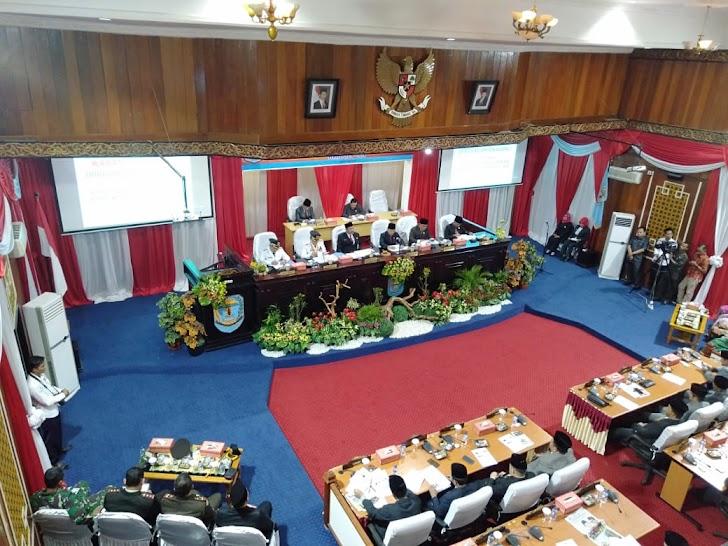 Bupati dan Wakil Bupati Kerinci Sampaikan Visi Misi Di Hadapan Dewan.