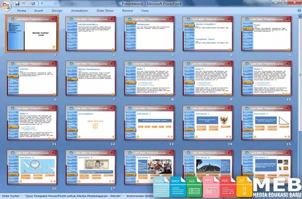 Kumpulan Contoh Media Pembelajaran Format Microsoft PowerPoint untuk Guru
