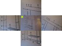Aufbau: Doppelkleiderständer mit zwei Kleiderstangen Kleiderständer auf Rollen