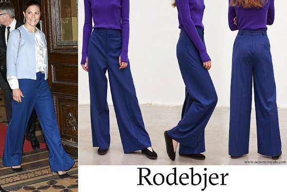 Crown Princess Victoria wore Rodebjer Simone Pant in Blue
