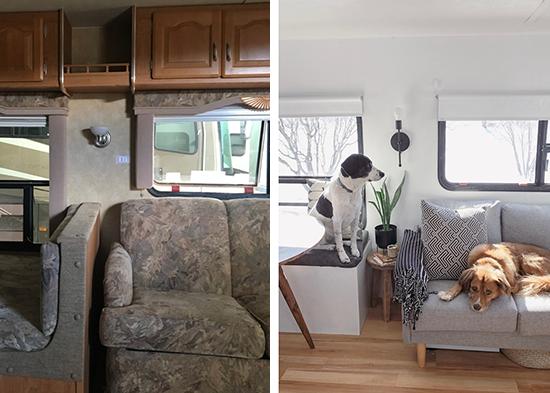 antes e depois decoração, motorhome, trailer, motorhome makeover, makeover decor, makeover, reforma, reforma barata, espaço pequeno, decorar espaço pequeno, decoração, a casa eh sua