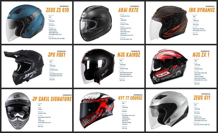 16 rekomendasi helm terbaik