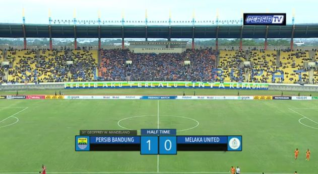 HT: Persib Bandung vs Melaka United 1-0