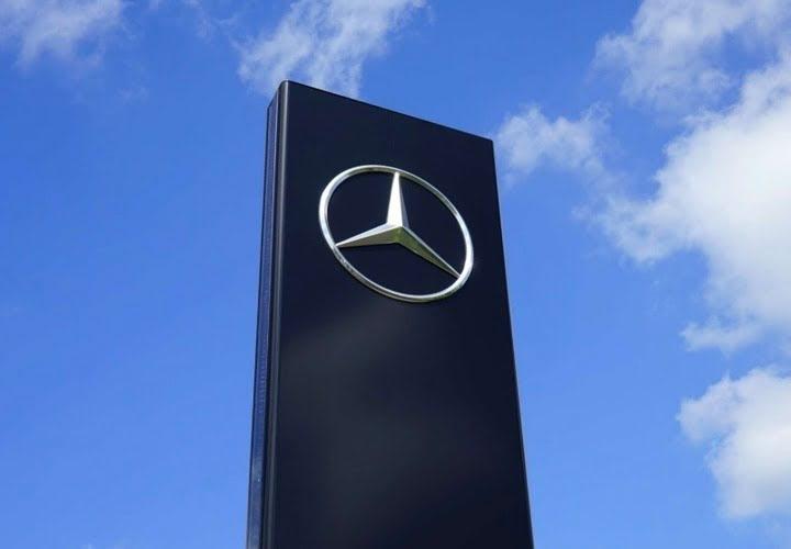 Mercedeas abstract logo mark