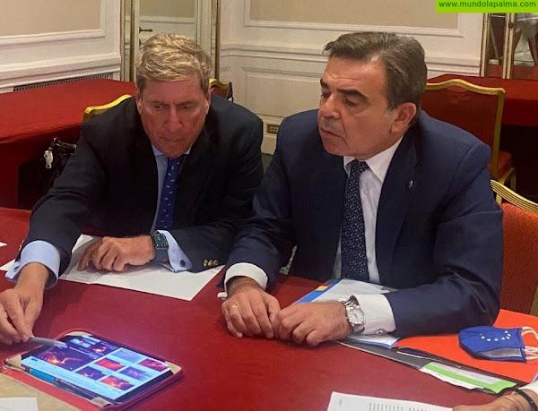 Gabriel Mato se reúne de urgencia con el vicepresidente de la Comisión Europea tras la erupción volcánica de La Palma