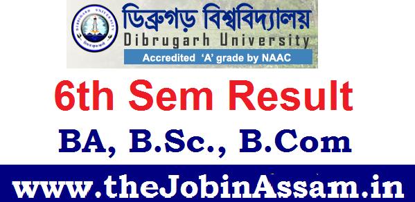 Dibrugarh University Result 2020