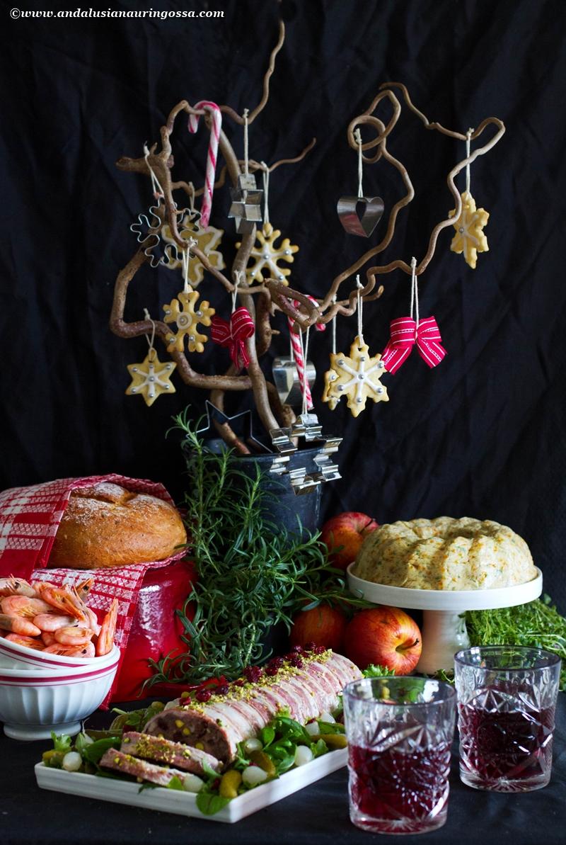 Heirol joulupöytä maalaisterriini possusta