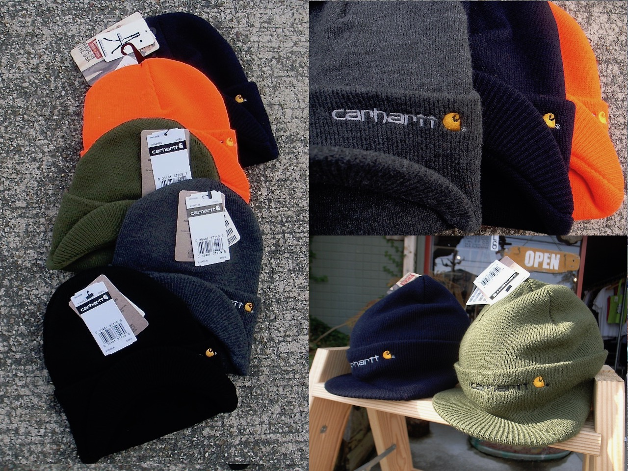 0b1c151f CARHARTT (A164 KNIT HAT WITH VISOR)   welcoblog