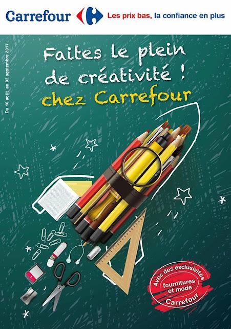catalogue carrefour maroc aout septembre rentree scolaire 2017