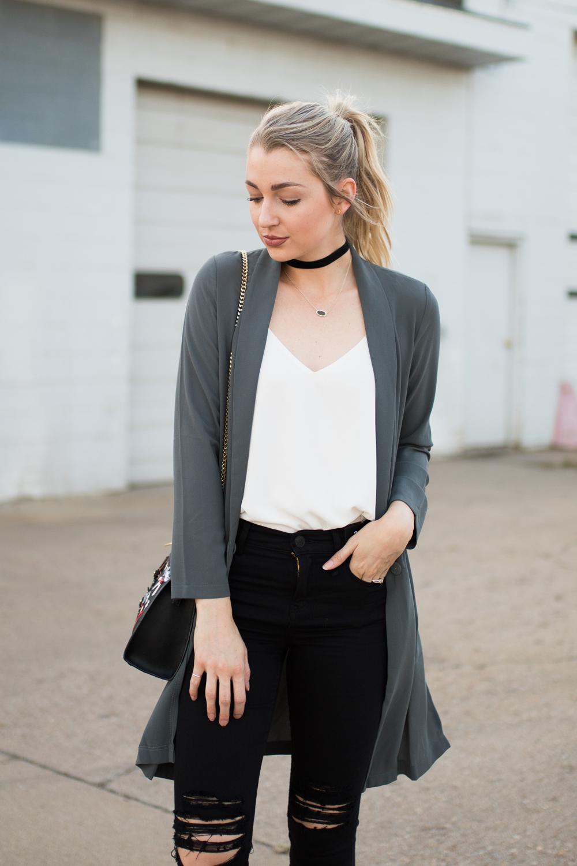 Longline blazer
