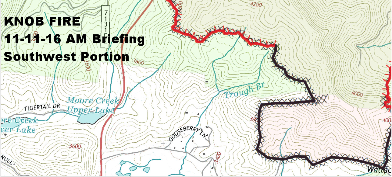Knob Fire  Southwest Portion