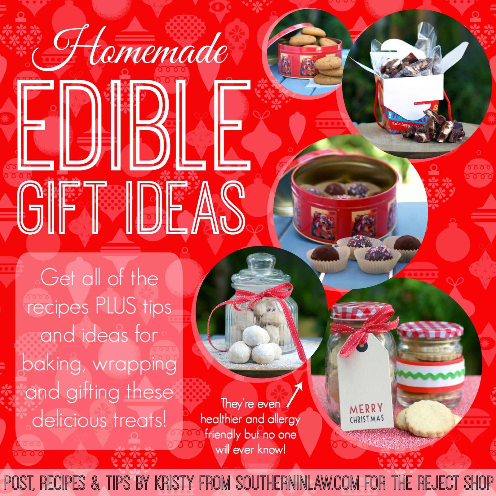 Homemade Edible Gift Ideas - Healthy, Low Fat, Gluten Free, Handmade Gift Ideas, Homemade Gifts for Christmas