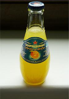 a bottle of aranciata