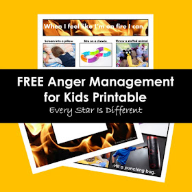 FREE Anger Management for Kids Printable: When I'm on fire I can...