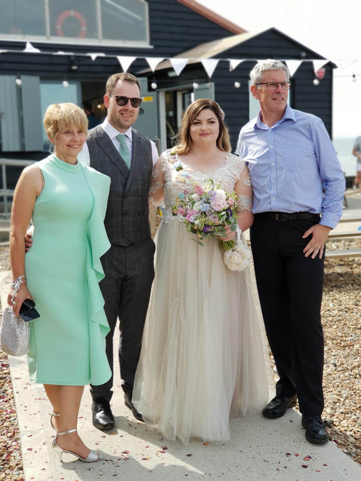 The bridal party:  Is This Mutton blogger Gail Hanlon at the 2018 wedding of her stepdaughter