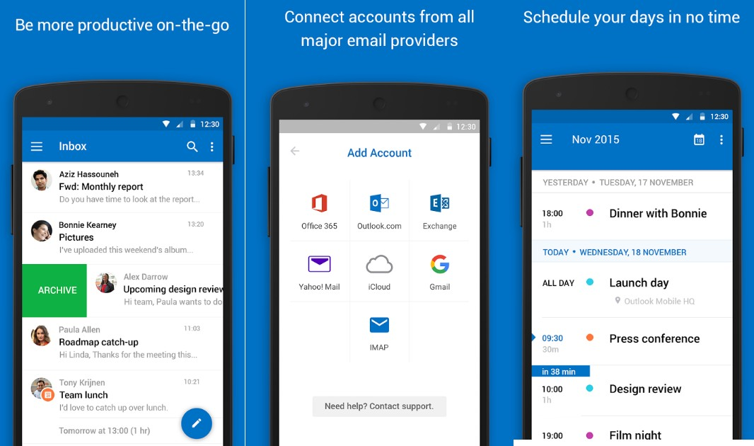 Microsoft Outlook App - Screenshots