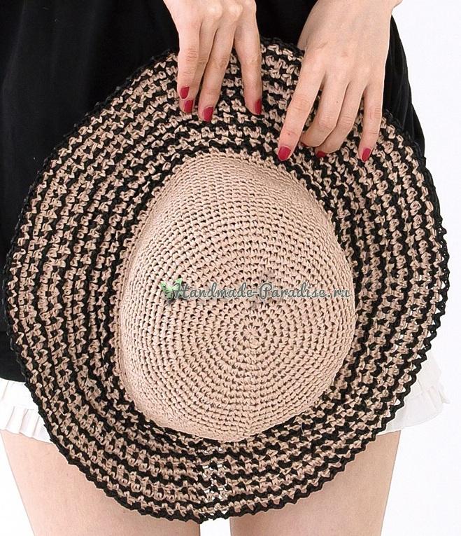 Соломенная шляпа крючком. Схемы вязания (1)