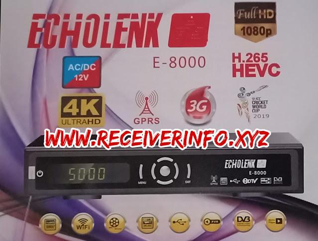 ECHOLINK E 8000 HD RECEIVER 1506T SGB2 NEW SOFTWARE UPDATE