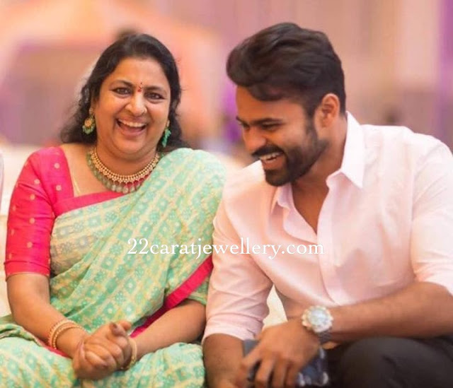 Sai Dharam Tej Mother Diamond Choker