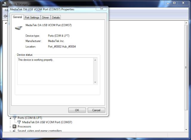 MediaTek DA USB VCOM Port Drivers
