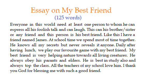 My best friend essay | 10 Lines on my best friend | Paragraph on my best friend, essay on my best friend