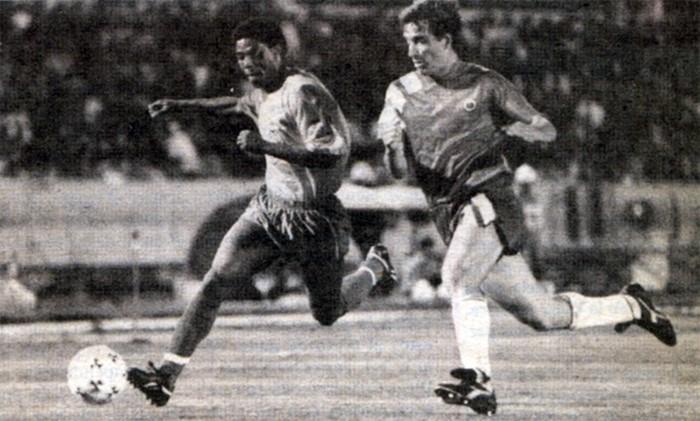 Ecuador y Chile en partido amistoso, 9 de junio de 1993