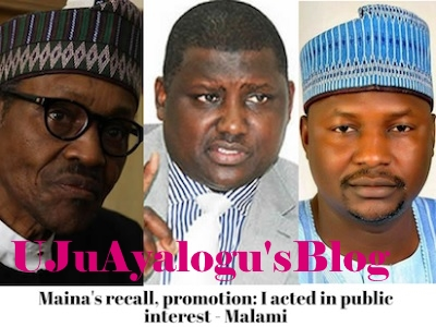 Maina's recall, promotion: I acted in public interest – Malami