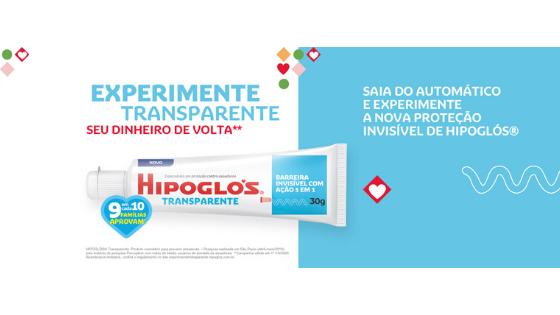Promoção Experimente Transparente Hipoglós
