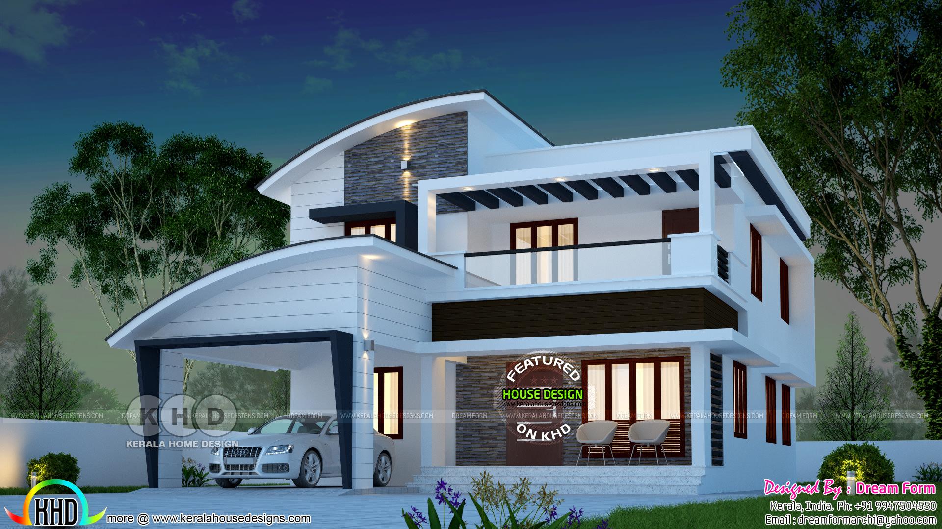 3 Bedroom 2280 Sq Ft Modern Home Design Kerala Home