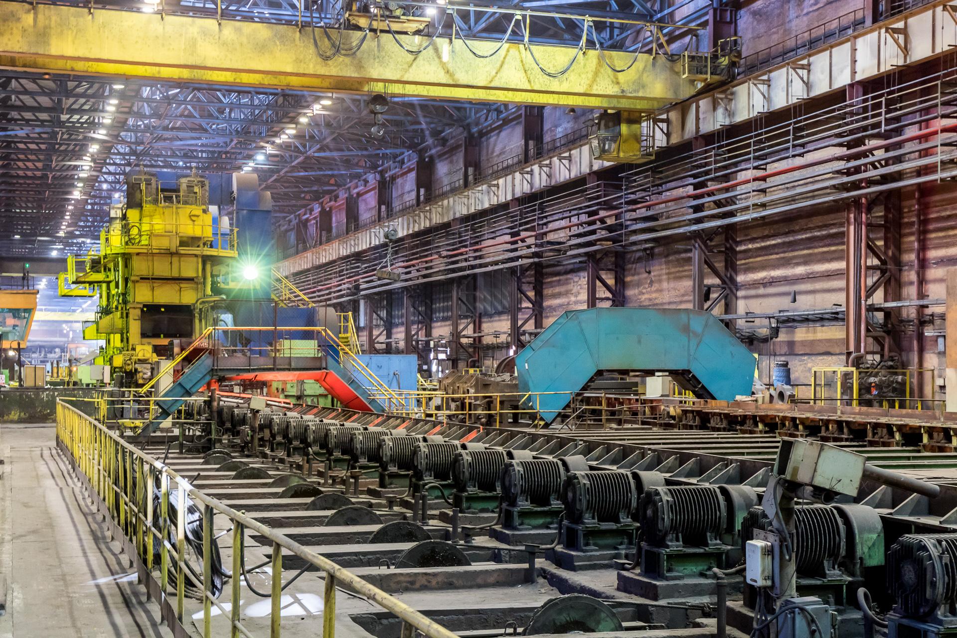 Стан-700 и восхитительные цвета Оскольского электрометаллургического комбината