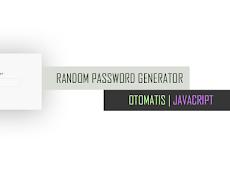 Cara Membuat Random Password Otomatis Menggunakan HTML CSS dan JavaScript