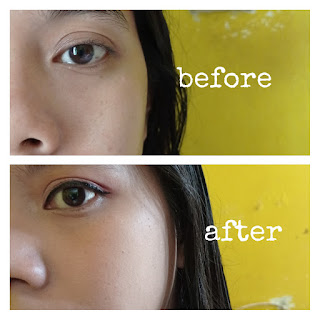 Before-after penggunaan Missha M Perfect Cover BB Cream