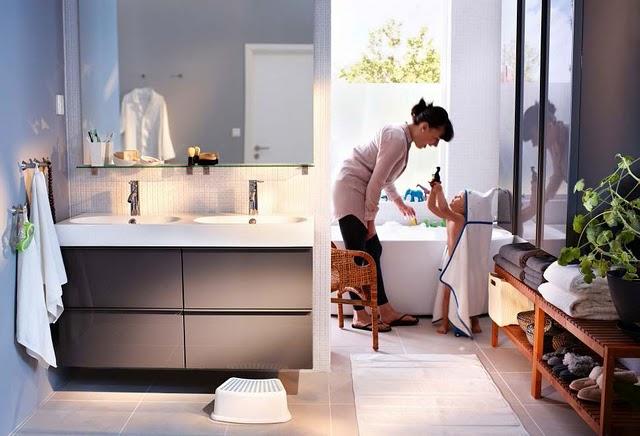 ديكورات للحمامات - افكار للمساحات الضيقة -صور ديكورات لغرف الغسيل modern-bathroom-desi