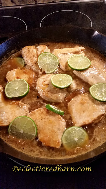 lime glazed chicken. Share NOW. #easydinners #dinners #chicken #eclecticredbarn