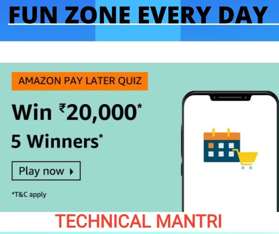 Which of these is most accurate for Amazon Pay Later? Amazon Quiz