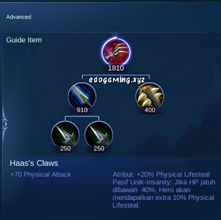 penjelasan lengkap item mobile legends item haas claws