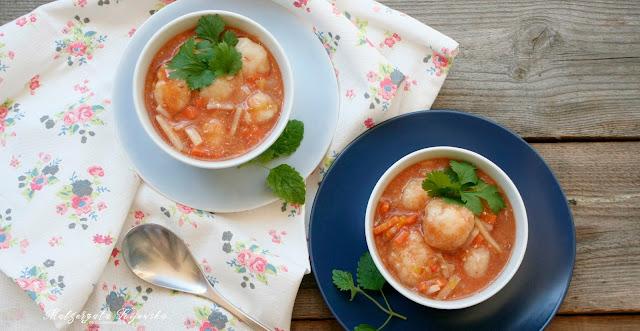 danie jednogarnkowe, zupa rybna, dorsz, pulpety, klopsy rybne, daylicooking, Małgorzata Kijowska