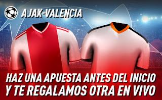 sportium promo champions Ajax vs Valencia 10 diciembre 2019