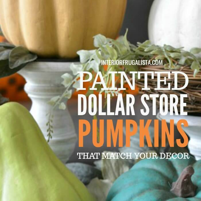 How to turn cheap dollar store plastic pumpkins into gorgeous farmhouse-style painted pumpkins customized to match your fall color palette and style.